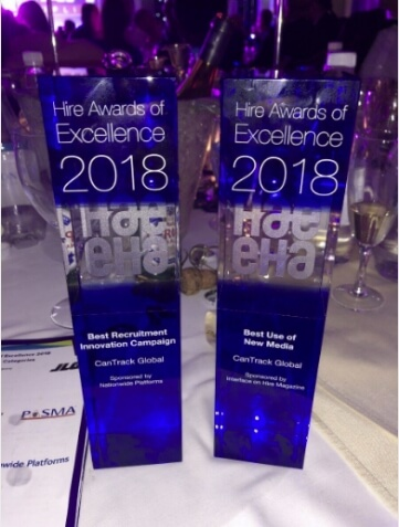 CanTrack Global cleans up with 2 wins at the HAE awards!