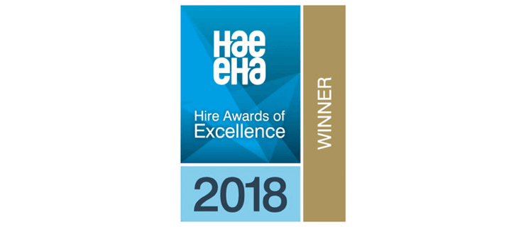 Hire Awards of Excellence Winner 2018