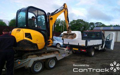 JCB excavator recovered