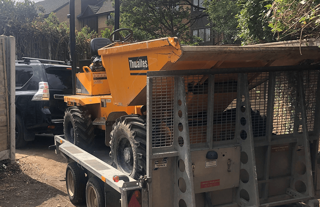 Thwaites 3 Ton Dumper recovered from Sussex