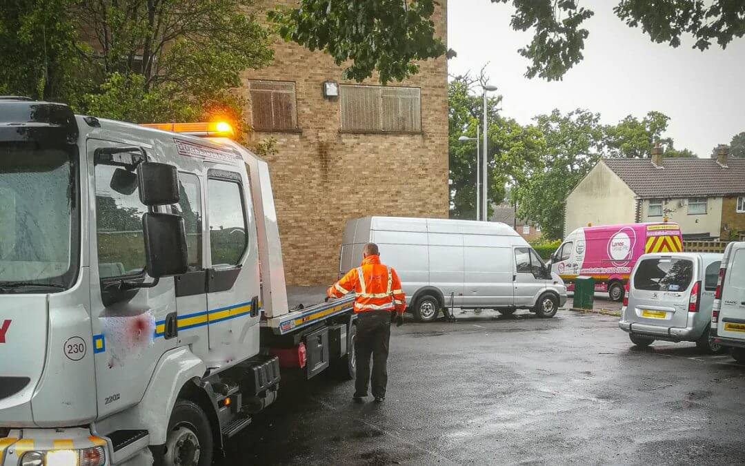 Mini-Excavator and van recovered