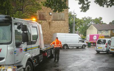 Mini-Excavator and van recovered