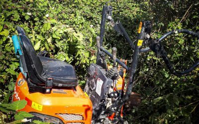 Kubota Excavator recovered from South Wales