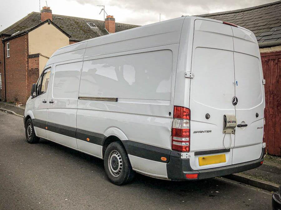 Mercedes Sprinter Stolen/Recovered from West Midlands