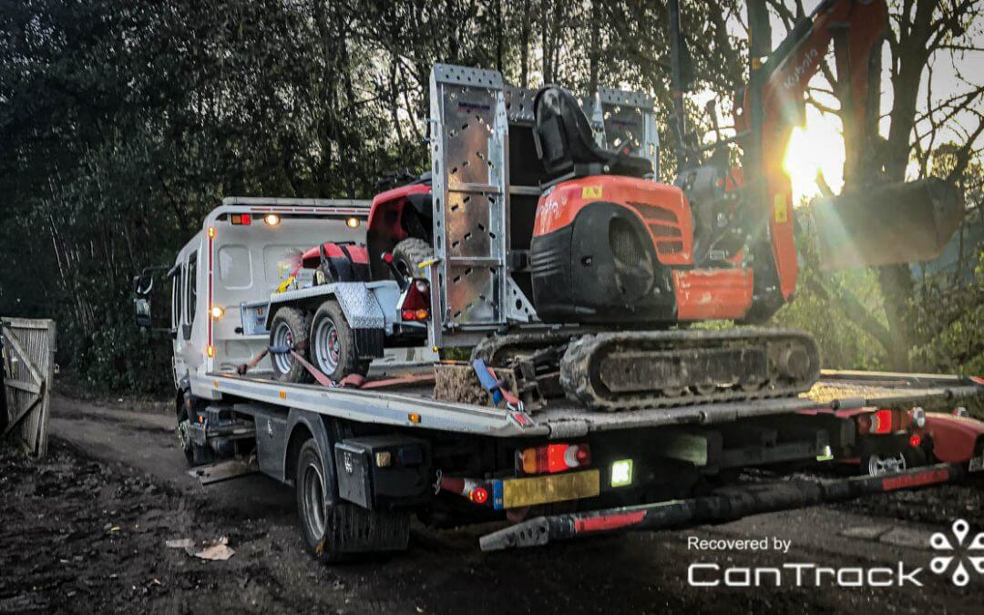 Kubota Mini Excavator stolen/recovered from Surrey