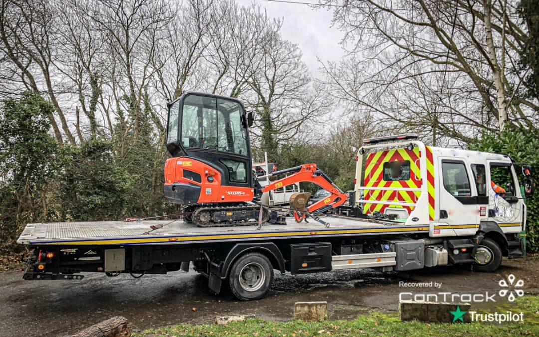 Kubota Mini Excavator – Stolen from Hertfordshire, recovered in Essex