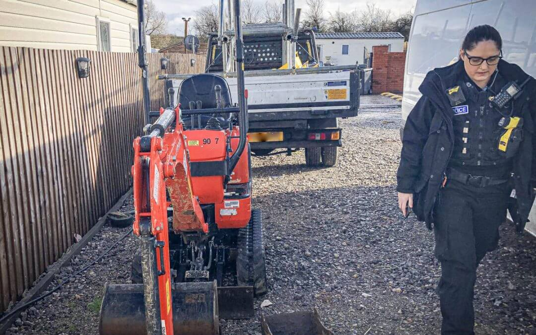 Kubota Micro Excavator stolen and recovered in Warwickshire