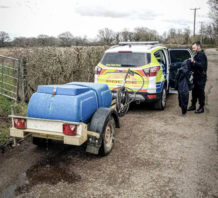 Bowser Pressure Washer stolen and recovered in Kent